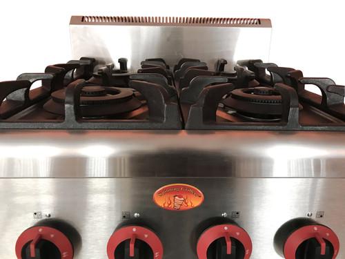 Spinning Grillers 4 Burner Counter Top Hot Plate / Range Natural