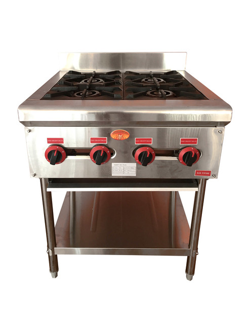 Spinning Grillers 4 Burner Free Standing Compact Range