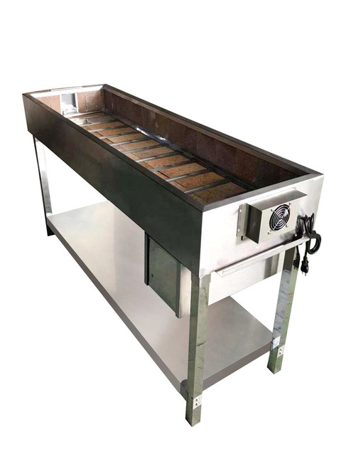 "Spinning  Grillers® Charcoal Kebab Grill 60""x 18.5"" x 36"""
