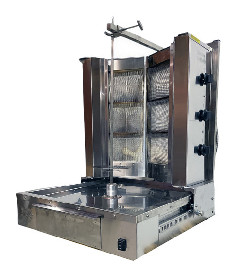 Shawarma Machine- Gyro Machine-Tacos al Pastor Machine- Doner Machine- Commercial Vertical Broiler 6 Burners by Spinning Grillers New York. Model SGN6-VG6.   Energy Saver Commercial Quality.