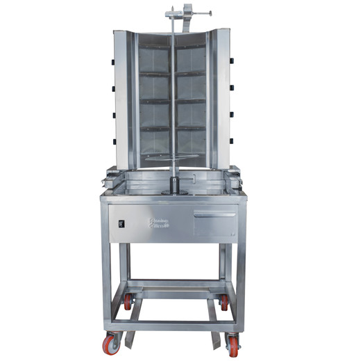 Shawarma Machine- Gyro Machine-Tacos al Pastor Machine- Doner Machine- Commercial Vertical Broiler 8 Burners by Spinning Grillers New York. Model SGN8-VG8A.   Energy Saver Commercial Quality.