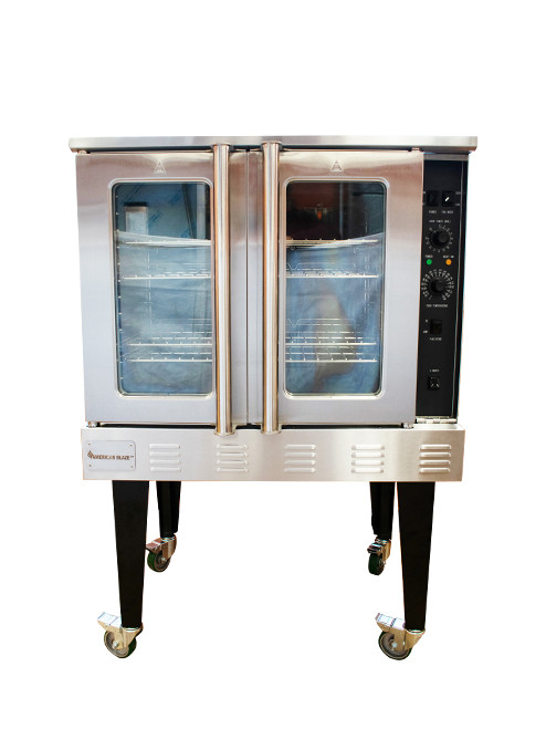 American Blaze Single Deck Full Size Natural Gas Convection Oven with Legs