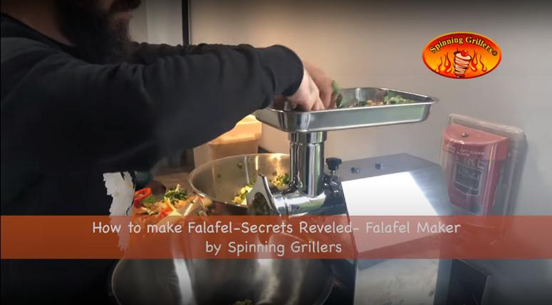 How to make Falafel - Secrets Revealed - Falafel Maker by Spinning Grillers