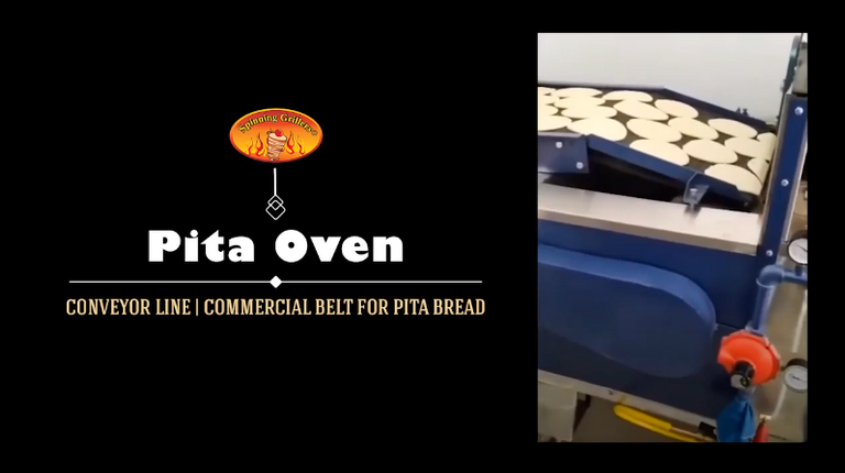 Pita Oven Conveyor Line by Spinning Grillers | Commercial Belt for Pita Bread