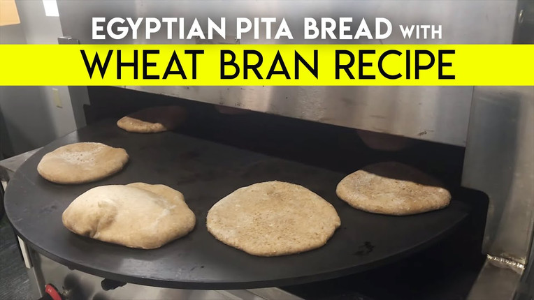 Egyptian Pita Bread with Wheat Bran | Recipe by Spinning Grillers