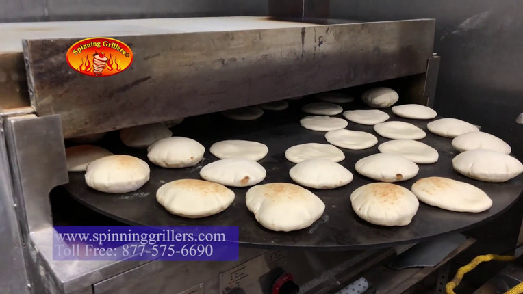 Pita Bread Oven - Naan Oven  by Spinning Grillers-  Large Capacity - خط خبز عربي