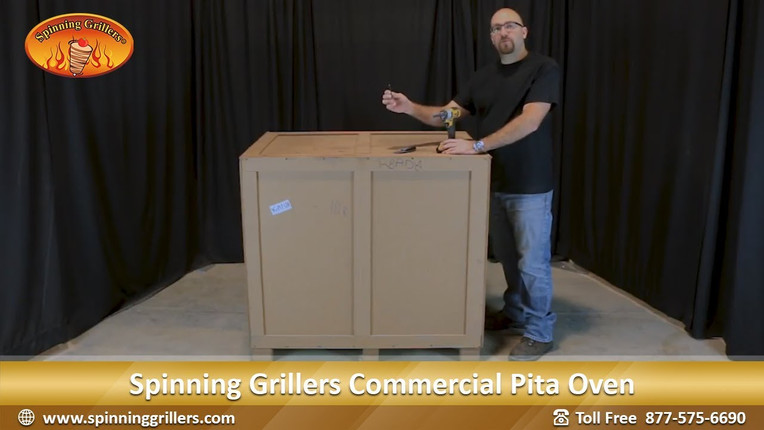 Unpacking and Assembling the Pita Oven from Spinning Grillers