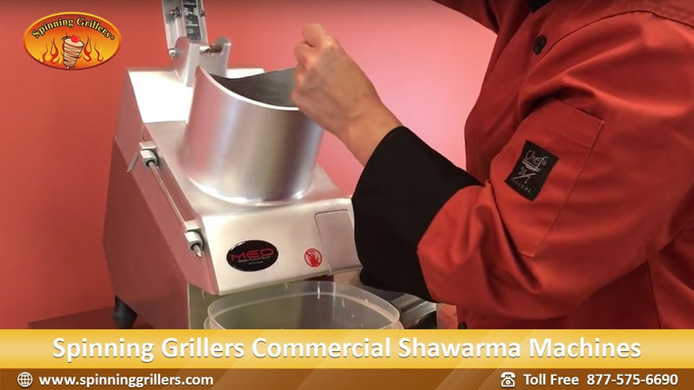 Automatic Shawarma Salad Chopper- Save on your labor! Commercial Food Processor.