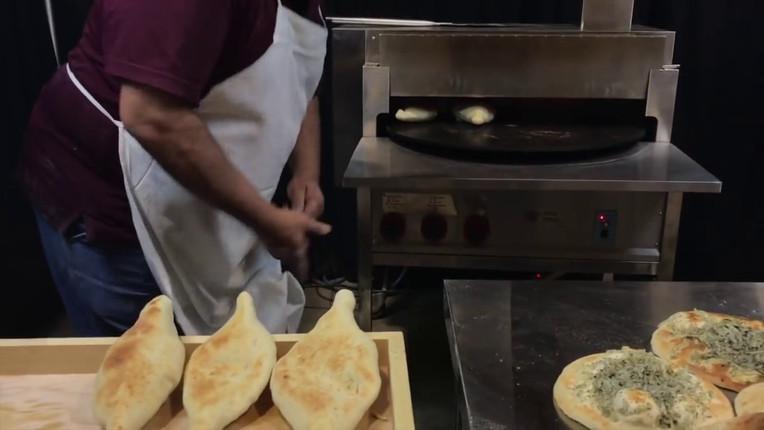 Samoon Bread - Making Iraqi Samoon with Pita Oven