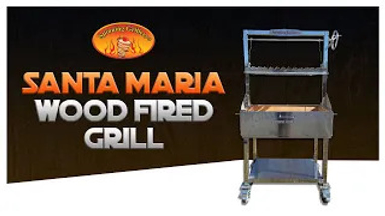 Stainless Steel Santa Maria Style Wood Fired Grill
