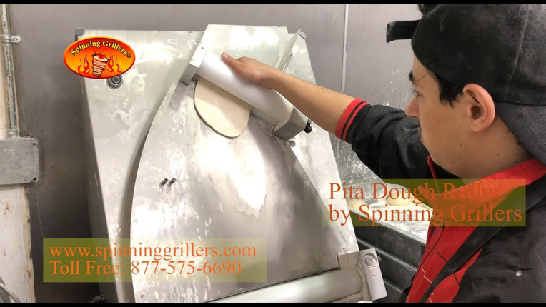 Pita Dough Roller by Spinning Grillers - Roll out the perfect Pita Bread
