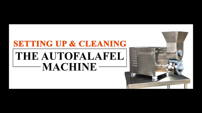 Setting Up & Cleaning the AutoFalafel | Automatic Falafel Machine by Spinning Grillers