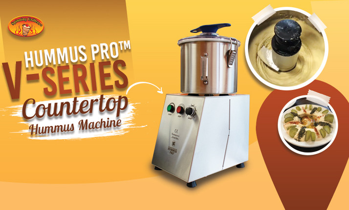 Hummus Pro - V-Series - Countertop Hummus Machine | Restaurant Equipment - Food Processor