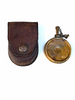 Yugo oil bottle and leather pouch