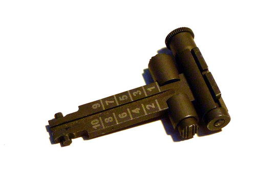 Windage adjustable AK rear sight