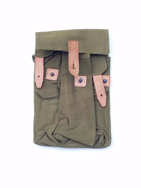 Romanian Canvas 3 cell Mag pouch
