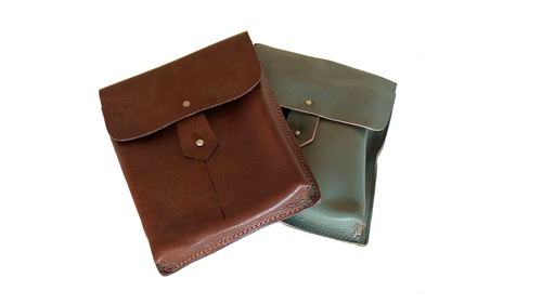 Romanian Leather 2 Cell Mag Pouch