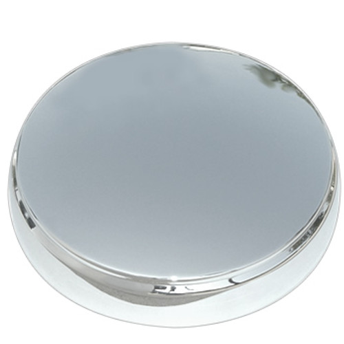 50 Merc Moon hubcap center cap, solid stainless steel buffed to a brilliant shine!