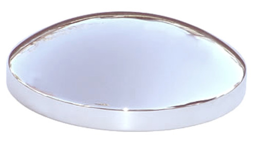 Baby Moon Hubcaps - Solid Steel Chromed Hub Cover 8-23/32 inch