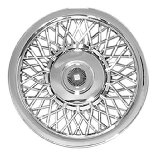 "14"" Hubcap Aftermarket 80's Style Brand New Chromed Spoke 14"" Wheel Cover with Simulated Center Cap"