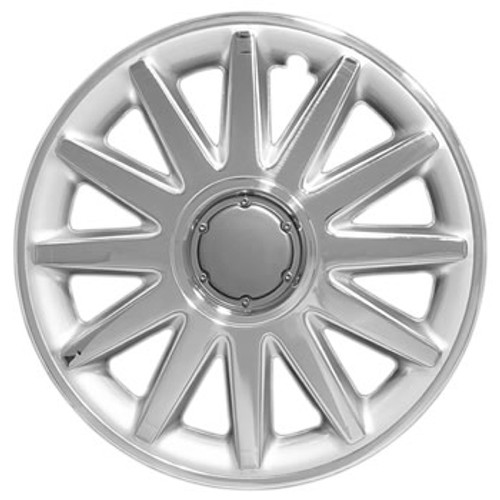 New aftermarket 14 inch Chrome, Silver and Pewter Finish Multi-Spoke 14 Wheel Cover