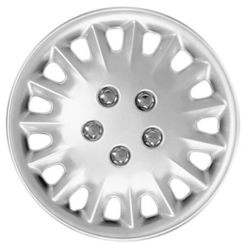 Silver finish 15 inch hubcaps wheel covers