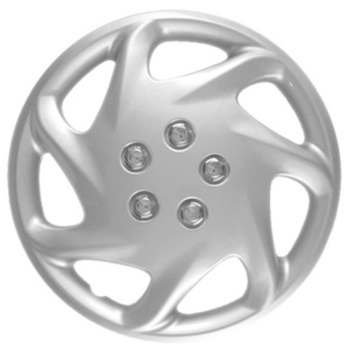 "15"" hubcaps 7 spoke silver finish wheel cover"