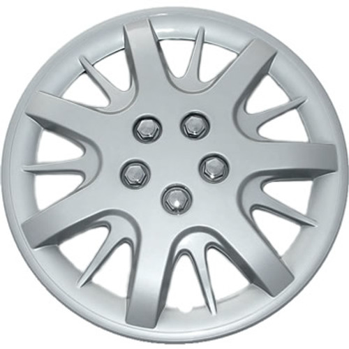 "15"" hubcaps with silver finish wheel covers"