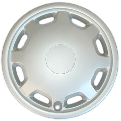 14 inch Universal Aftermarket Hubcap Silver Finish Dish Shaped Wheel Cover