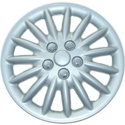 16 inch Hubcaps Custom 188-16s Silver Finish