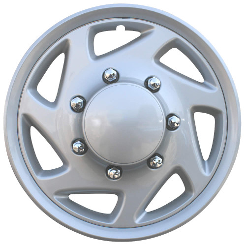 1997-2013 Ford Econoline Van Hubcaps Silver Finish Ford Van Replacement Wheel Covers
