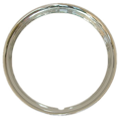 "14"" 15"" or 16"" Trim Rings Beautiful Solid Stainless Steel 4 Ribbed Beauty Rings"