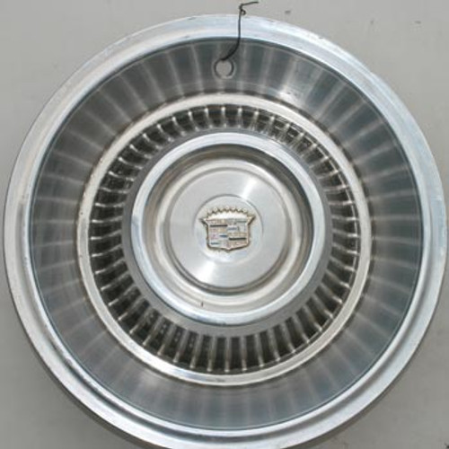 """'63-'64 Caddy Stainless 15"""" Steel Hubcap"""