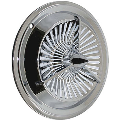 Chromed Solid Steel 14 inch Polara Wheel Covers Tri-Bar Polara Hubcaps