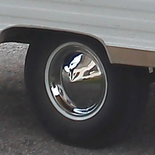Cone-Style Moon Hubcaps 1957 Plymouth Wheel Cover Look-15