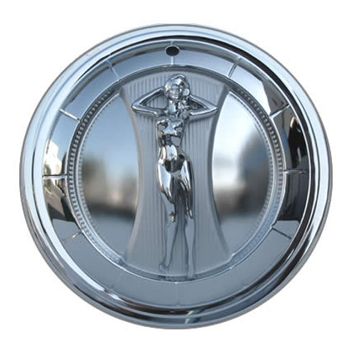 Solid steel chromed 15 inch wheel cover for your vintage car