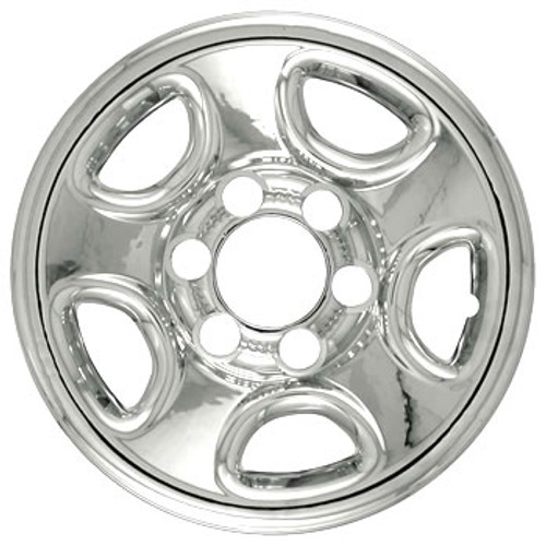 """99'-07' GM Sierra Wheel Cover 16"""" Six Lug Chrome Finish Wheel Skin"""