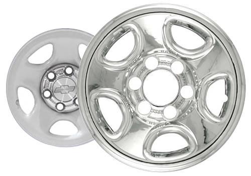 "99'-07' Chevy Silverado Wheel Cover 16"" Six Lug Chrome Finish Truck Wheel Skin"