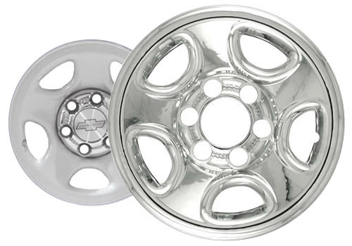 "00-06' Chevy Tahoe Wheel Cover Wheelskin 16"" Six Lug Chrome Finish"