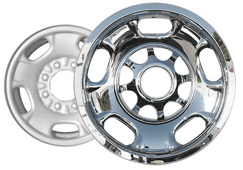 "2011-2019 Silverado Wheel Covers Wheel Skins Chromed 17"" for 8 Lug Wheel by CCI"