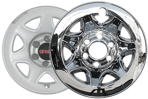 "2014-2016 Sierra Wheel Skin 17"" Chrome CCI Wheel Cover for 6 Lug Wheel"