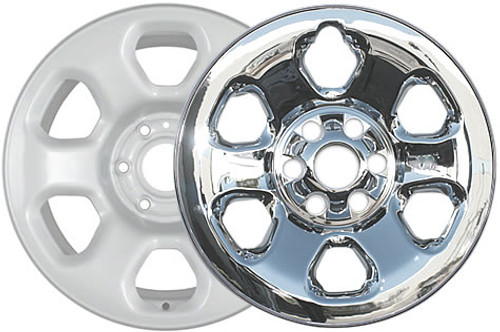 "Years 13' 14' 15' 16' 17' Titan Wheel Skins 18"" Chromed CCI Wheel Cover for 6 Lug Truck Wheel"
