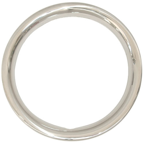 14 inch Solid Steel 1-3/4 inch Deep Trim Ring, Brilliant Chrome Finish Beauty Rings