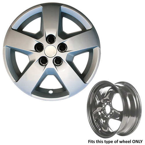 This HHR Wheel Cover can only be used if your wheel type is like the wheel shown.