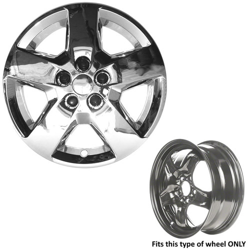 This HHR hubcap can only be used with the wheel type shown.