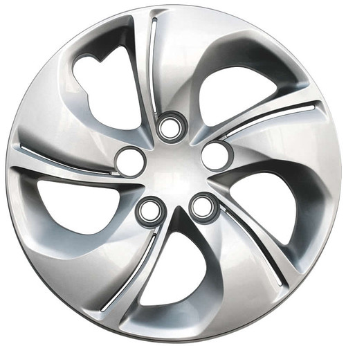 2013 2014 2015 Honda Civic hubcap Replica 5 spoke silver twisted bolt-on 15 inch Civic Wheel Cover