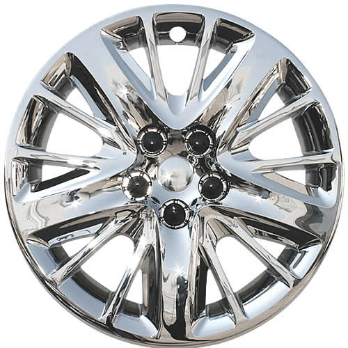 """2014 2015 2016 2017 2018 Chevy Impala Hubcap chrome finish 18"""" Screw-on  wheel cover."""