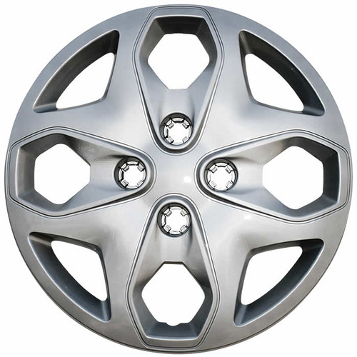 2011 2012 2013 Ford Fiesta hubcaps silver finish replica 15 inch