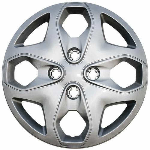2011 2012 2013 Ford Fiesta hubcaps silver finish replica 15 inch