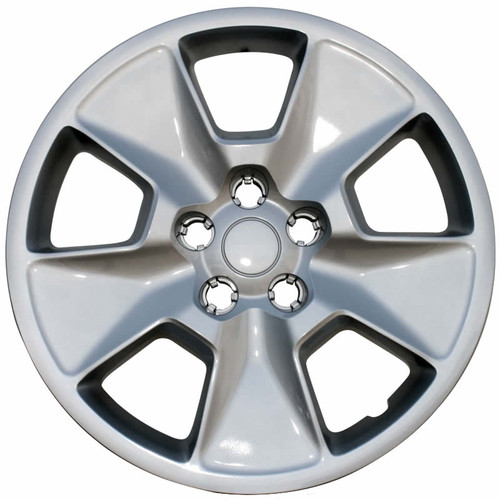 11' - 15' Ford Explorer hubcap with a silver finish.